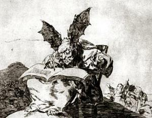 Could not find my sketch of this but the original will do. Gotta love me some Goya